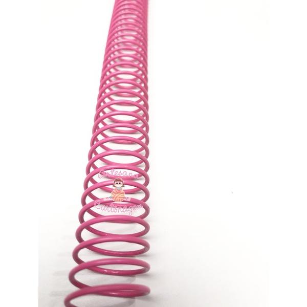 ESPIRAL DE AÇO PARA FURO DE WIRE 1 ¼ (31,7 MM) – ROSA CHICLETE