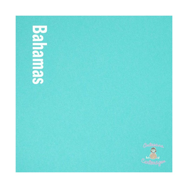 PAPEL COLOR PLUS BAHAMAS ( AZUL TURQUESA) -2 FOLHA A3
