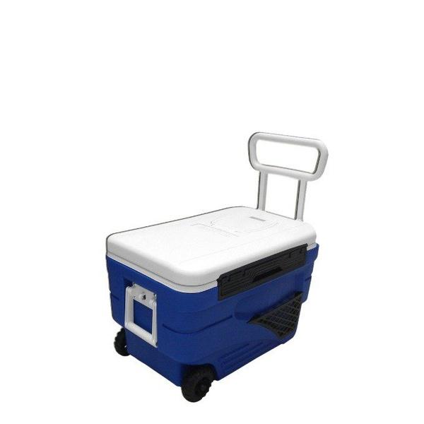 Caixa Térmica Igloo Wheelie Cool 36 Litros Azul Com Rodinhas