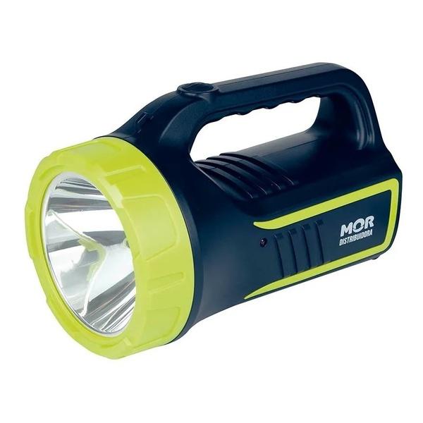Lanterna Holofote Power Led 265 Lúmens Recarregável - MOR