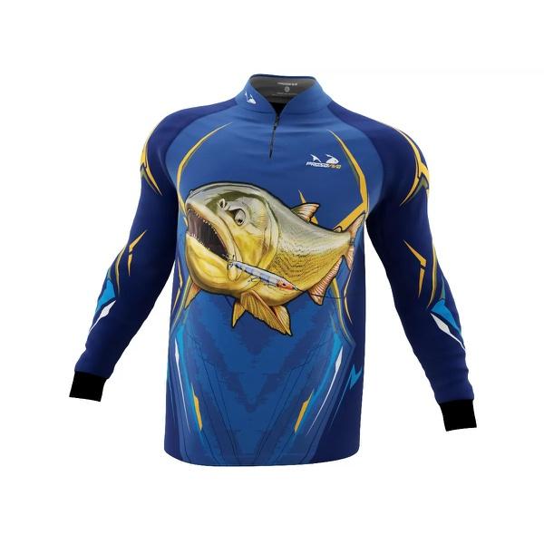 Camisa de Pesca Presa Viva Dourado