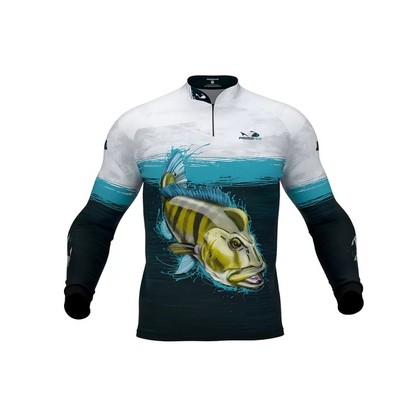 Camisa de Pesca Presa Viva Tucunaré Azul