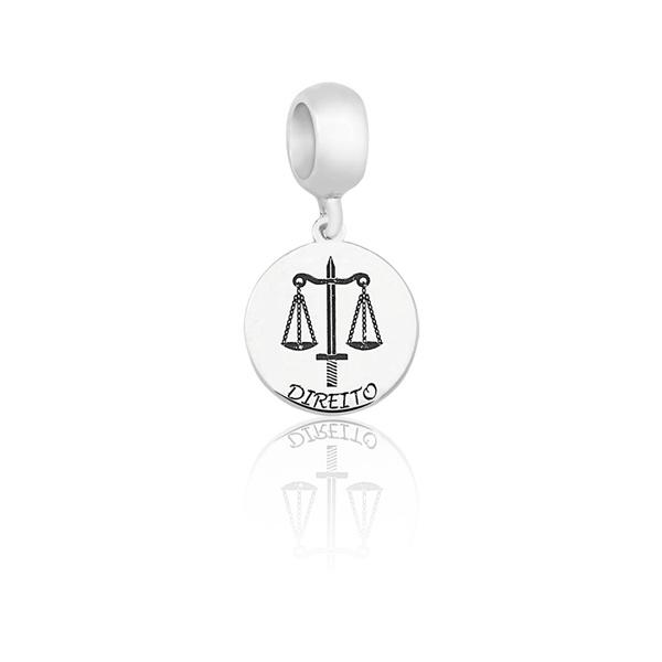 Pingente Berloque em Prata 925 Profissão Direito