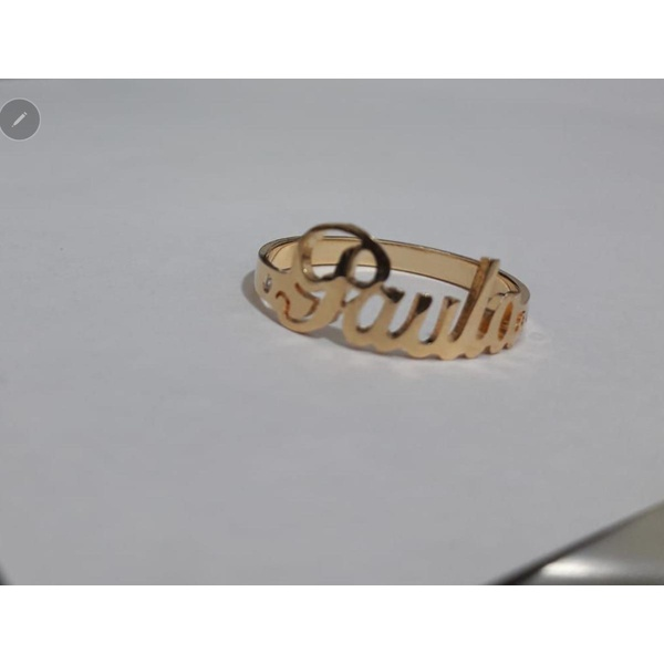 Anel Personalizado banhado a ouro