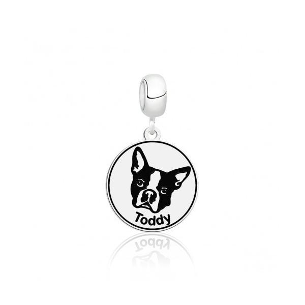 Pingente Berloque em Prata 925 Dog Personalizado