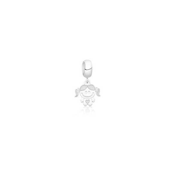 Pingente Berloque em Prata 925 Menina