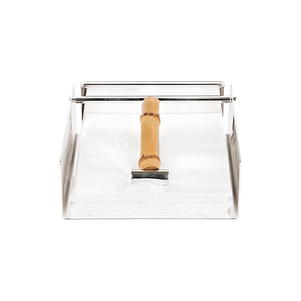 Porta Guardanapo de Prata com Bambu P