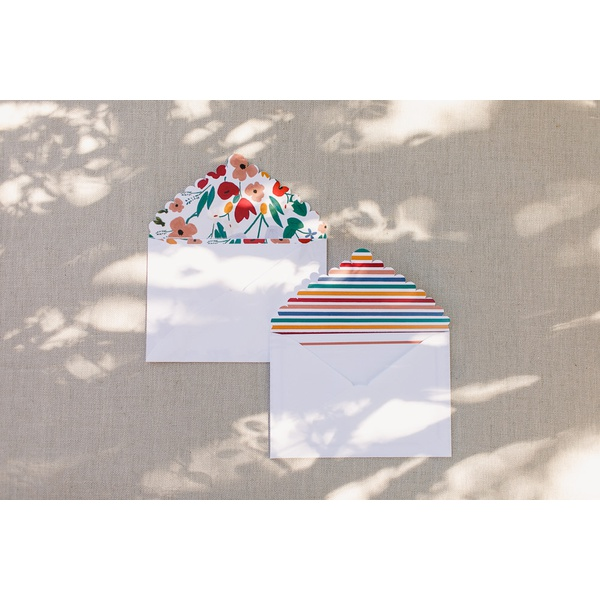 Cartão social Flora + Íris