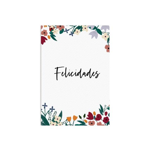 Cartão Felicidades Flora