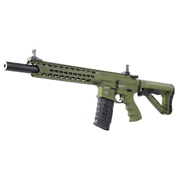 Rifle de Airsoft Elétrico G&G AEG GC16 PREADATOR HUNTER GREEN EGC-PTR-HTG-GNB-NCS