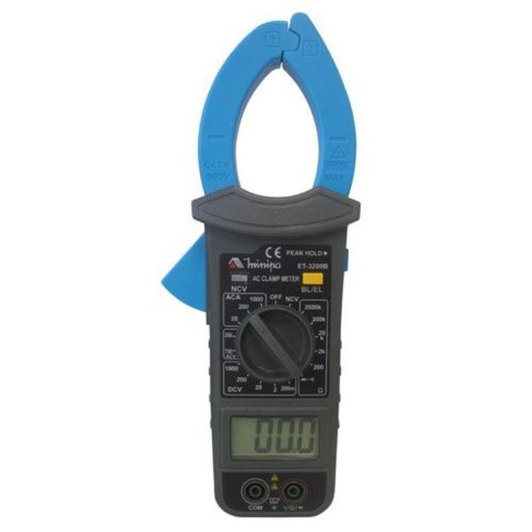 ALICATE AMPERÍMETRO DIGITAL AC 20A 200A 1000A ET-3200B