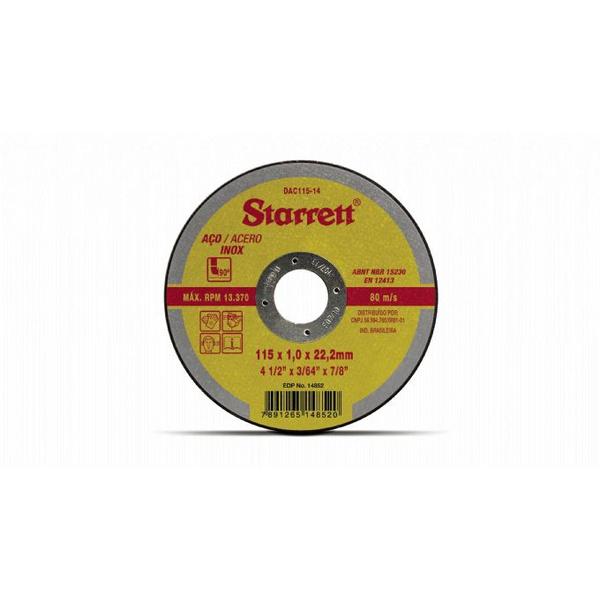 """DISCO DE CORTE P/ FERRO 4.1/2""""X1X7/8"""""""