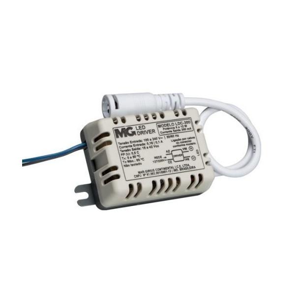 LED DRIVER 6W-12W CORRENTE 300mA NÃO ISOLADO COM CONECTOR