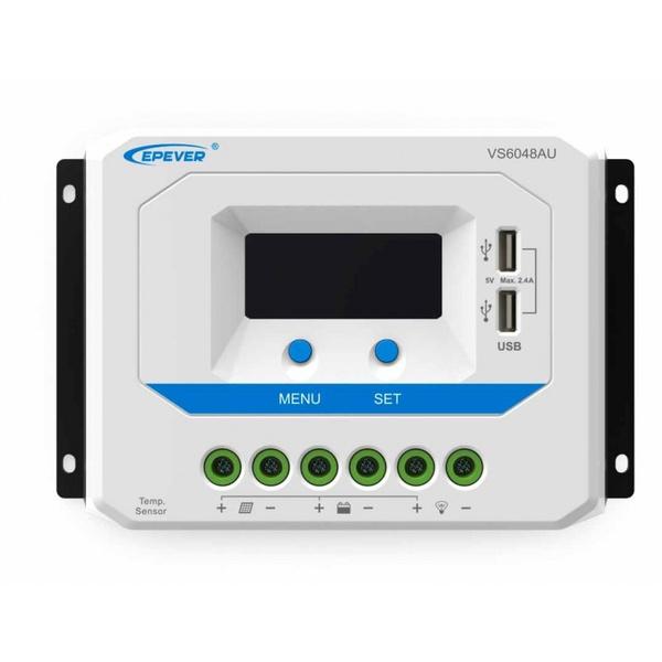 CONTROLADOR SOLAR 60A 12/24/36/48V VS6048AU