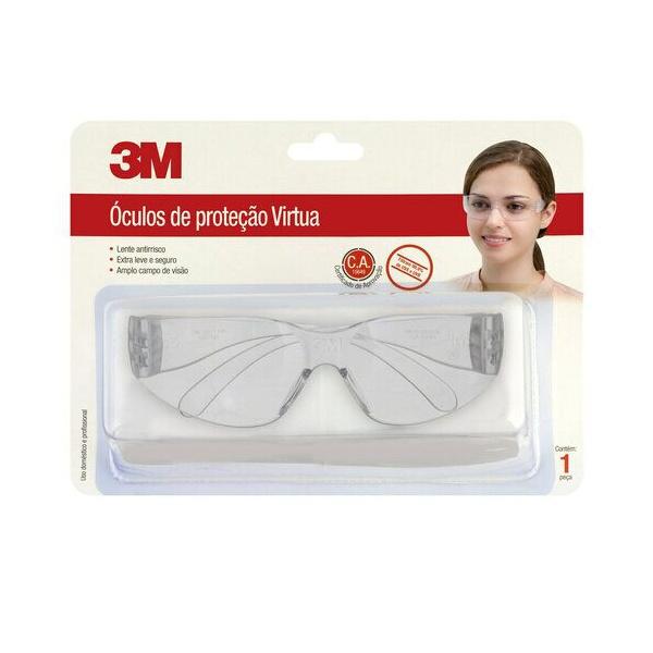 ÓCULOS DE PROTEÇÃO VIRTUA ANTI-FOG E ANTI-SCRATCH SAFETY GLASSES