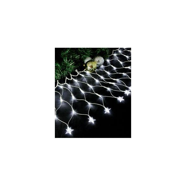 REDE LUMINOSA COM 100 LEDS E ESTRELA NA PONTA 127V - LUZ BRANCA