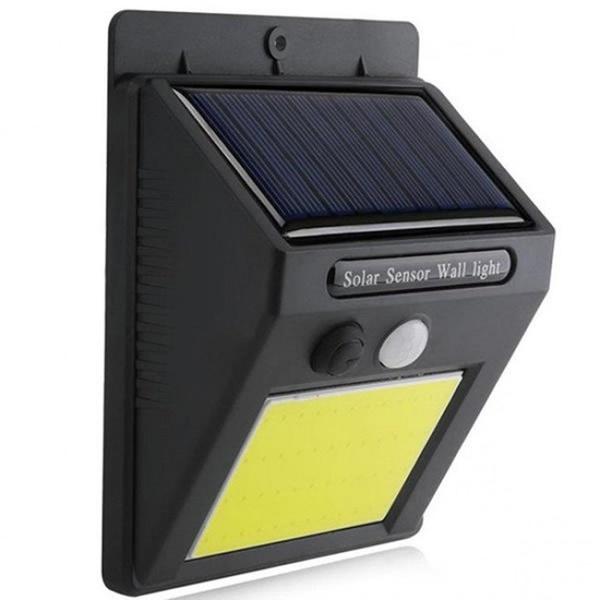 LUMINÁRIA SOLAR EXTERNA P/ JARDIM COM 48 LEDS