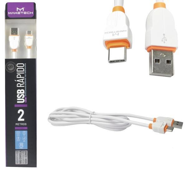 CABO USB RÁPIDO LS02 2M TYPE C