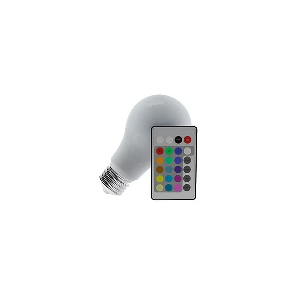 LÂMPADA LED BULBO 3,5W RGB COM CONTROLE REMOTO