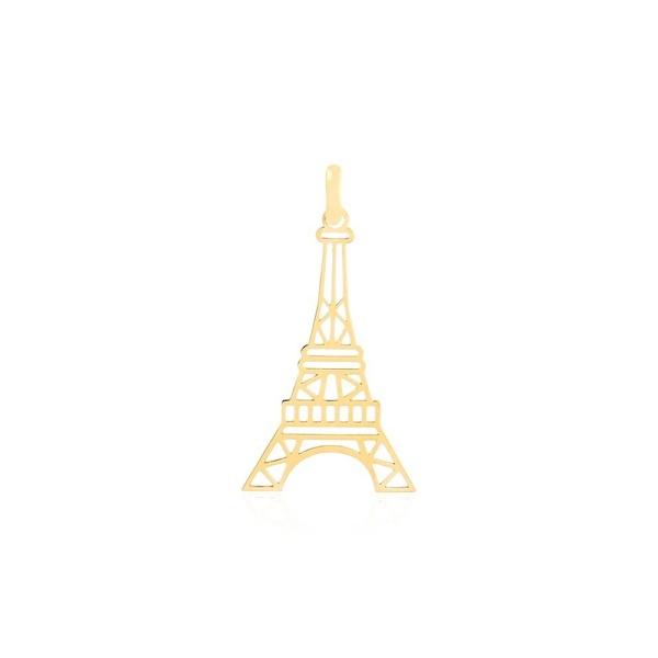 Pingente ouro amarelo 18k - Torre Eiffel