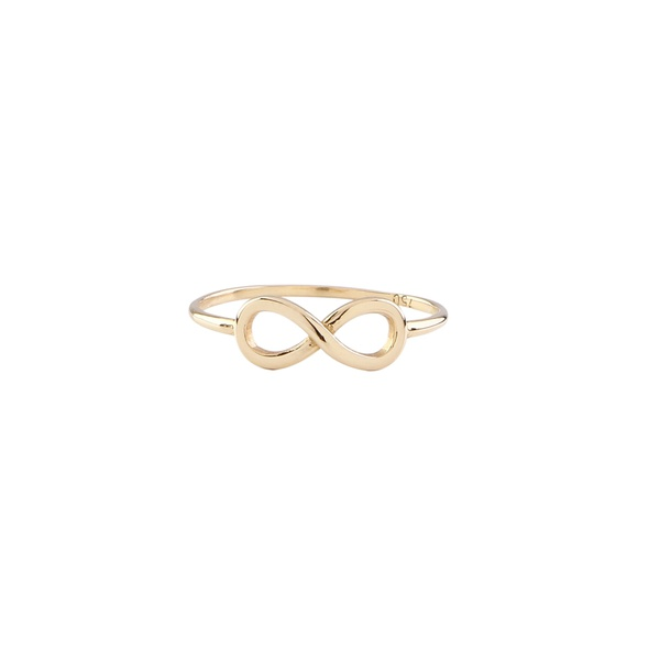 Anel infantil ouro amarelo 18k - Infinito