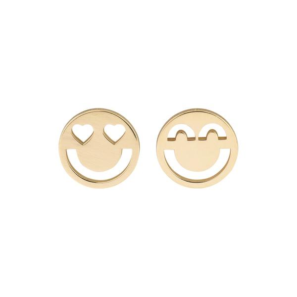 Brinco de ouro amarelo 18k - Emoji