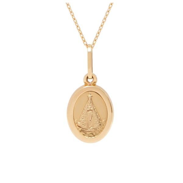 Pingente ouro amarelo 18k - Nossa Senhora Aparecida