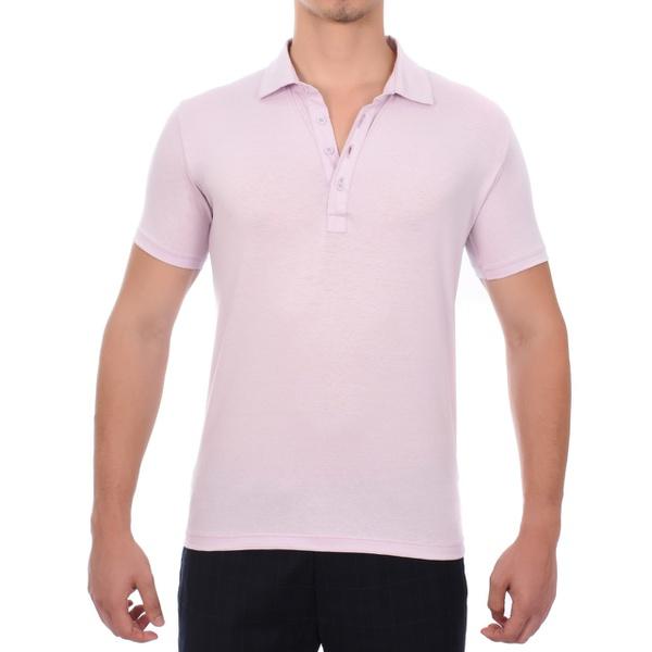 Camiseta Polo Masculina Rosa