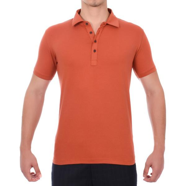 Camiseta Polo Laranja Masculina