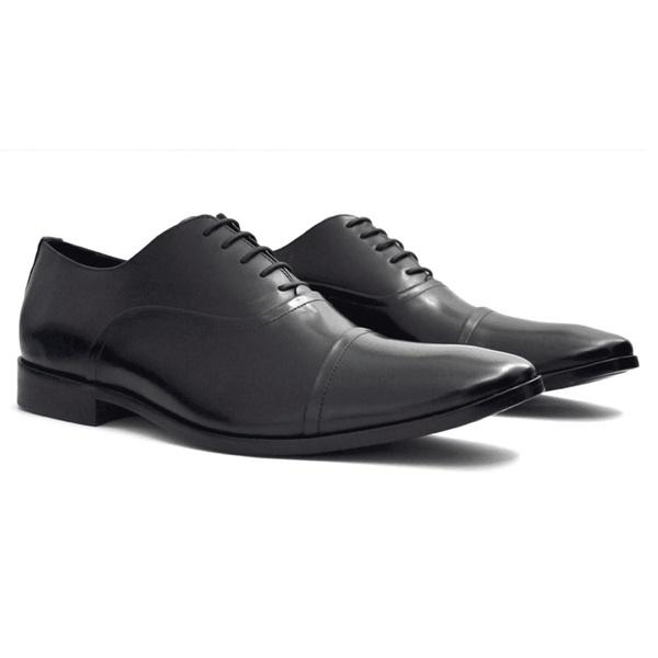 Sapato Social Oxford Stan Preto Solado Borracha