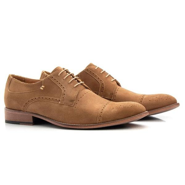 Sapato Social Masculino Camurça de Amarrar