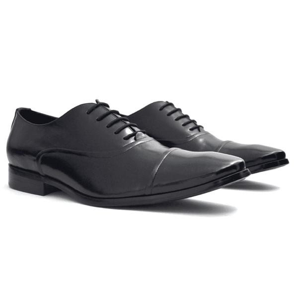 sapato oxford masculino em couro preto