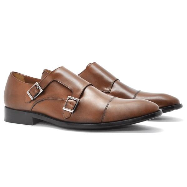 Sapato Social de Couro Conhaque