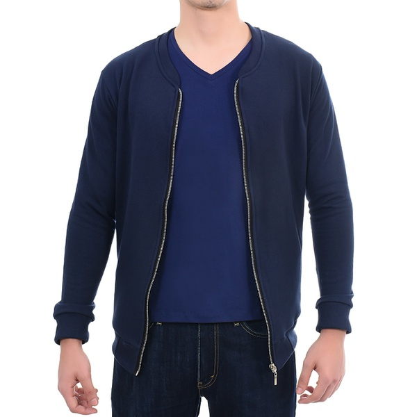 Suéter de Moletom Masculino Azul Marinho
