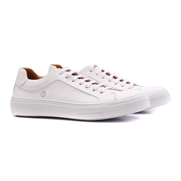 tenis masculino de couro branco