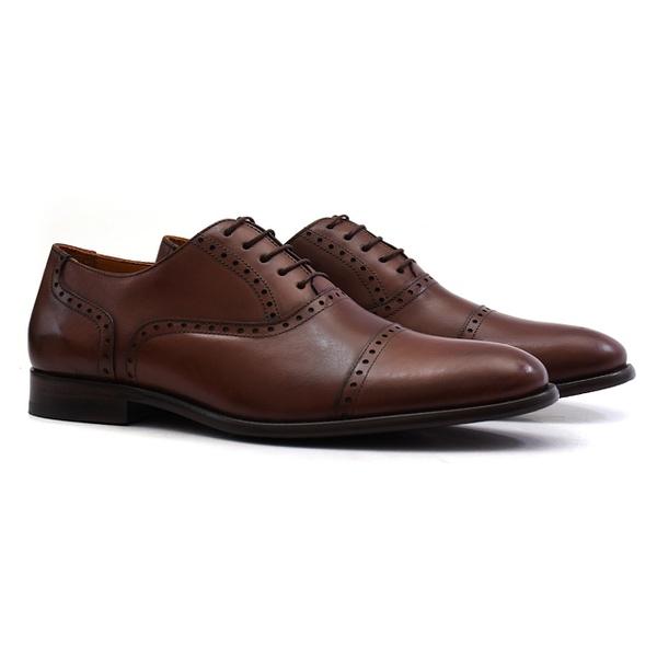 Sapato Social Oxford de couro Preto