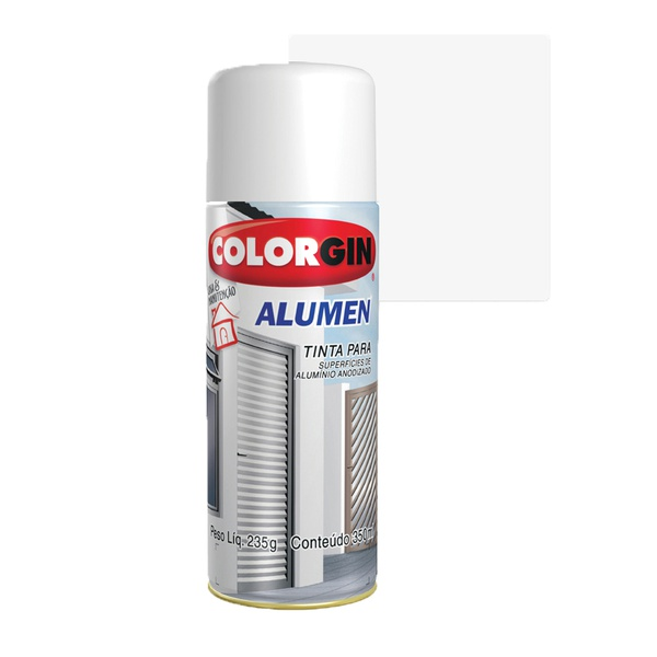 COLORGIN SPRAY ALUMEN BRANCO 7004 350ML