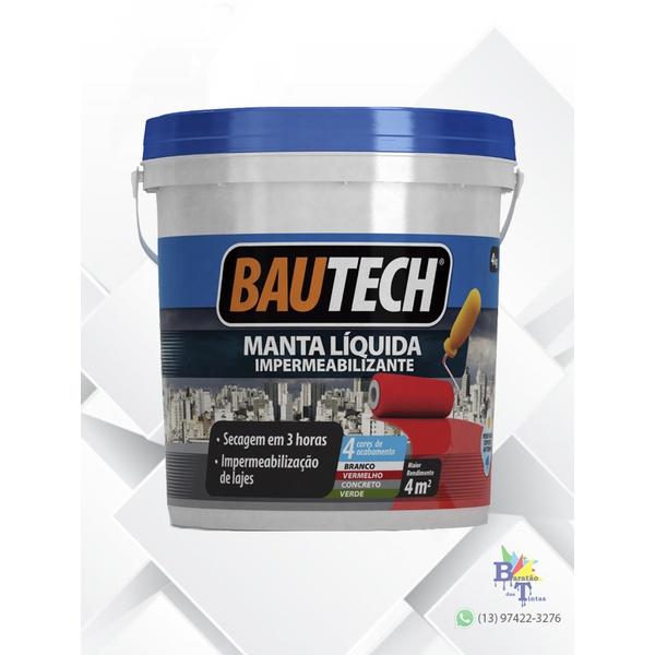 BAUTECH MANTA LÍQUIDA CINZA 4KG