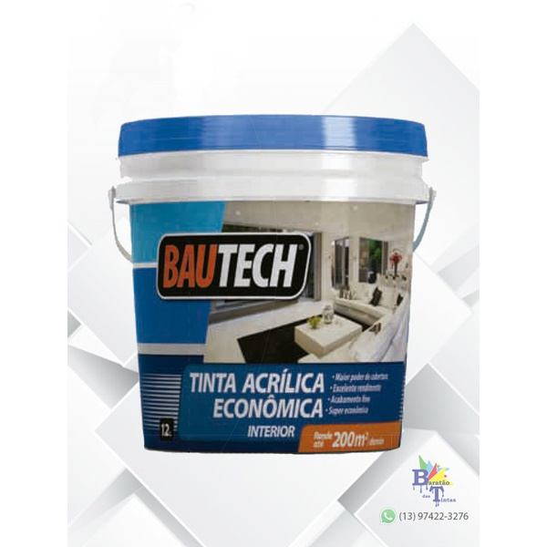 BAUTECH TINTA ECONÔMICA BRANCO 12L