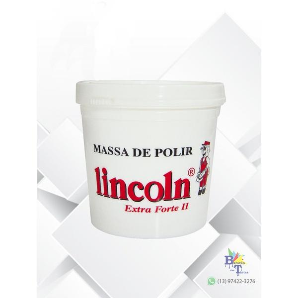 MASSA DE POLIR BASE ÁGUA Nº 2 LINCOLN 1KG