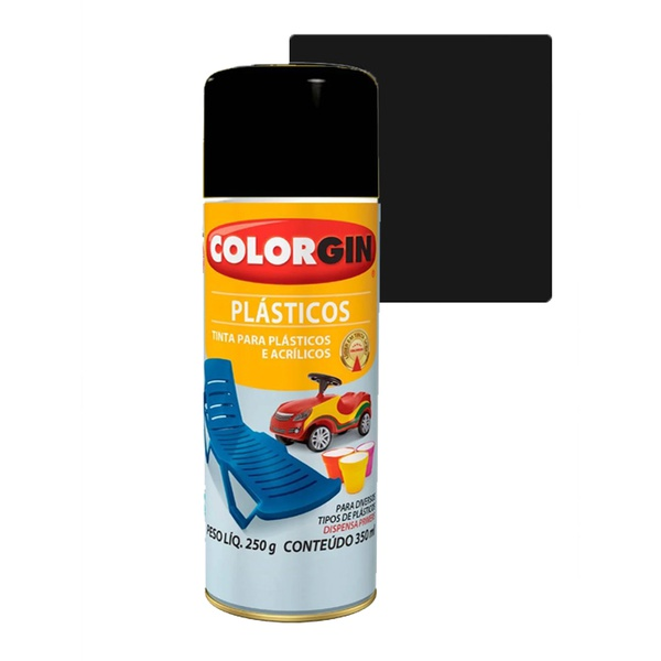 COLORGIN SPRAY PLÁSTICO PRETO FOSCO 350ML