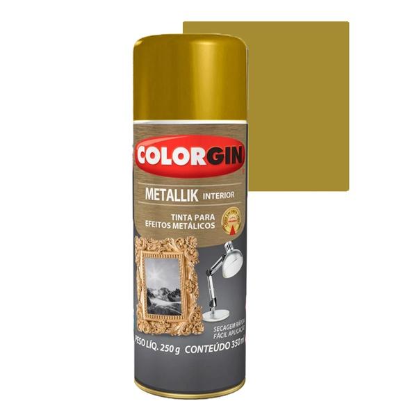 COLORGIN SPRAY METALLIK OURO 350ML