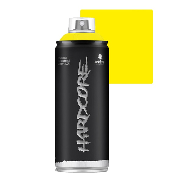 SPRAY HARDCORE AMARELO CLARO BRILHANTE RV1021 MONTANA 400ML