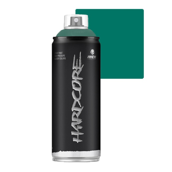 SPRAY HARDCORE VERDE ESCURO BRILHANTE RV6016 MONTANA 400ML