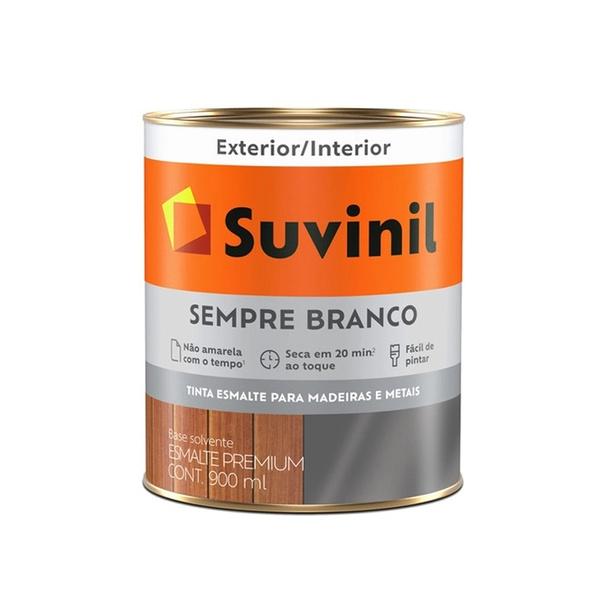 SUVINIL ESMALTE SEMPRE BRANCO BRILHANTE 900ML
