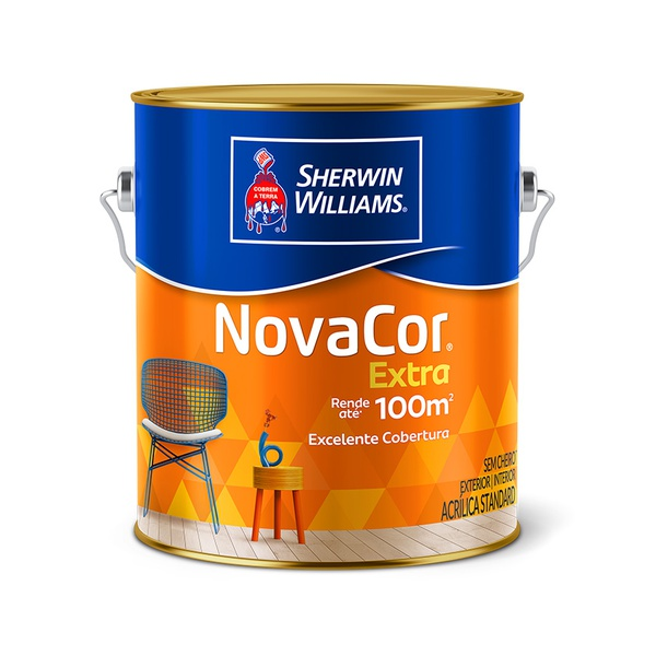 NOVACOR ACRÍLICO FOSCO PAREDE AREIA 3,6L