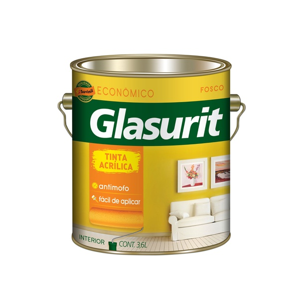 GLASURIT ACRÍLICO ECONÔMICO BRANCO 3,6L