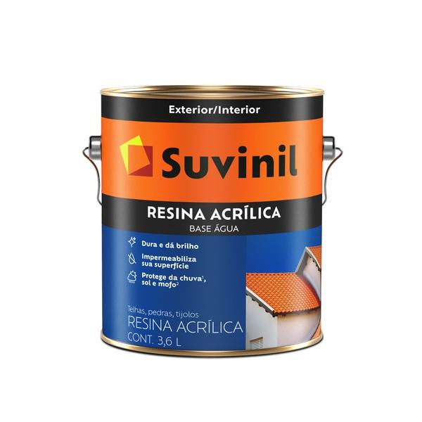 SUVINIL RESINA ACRÍLICA BASE ÁGUA INCOLOR 3,6L