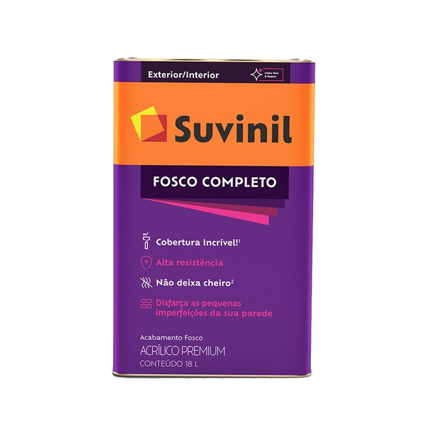 SUVINIL ACRILICO FOSCO COMPLETO ERVA DOCE 18L