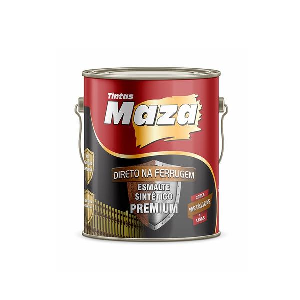 MAZA ESMALTE SINTÉTICO METÁLICO MARROM 3,6L